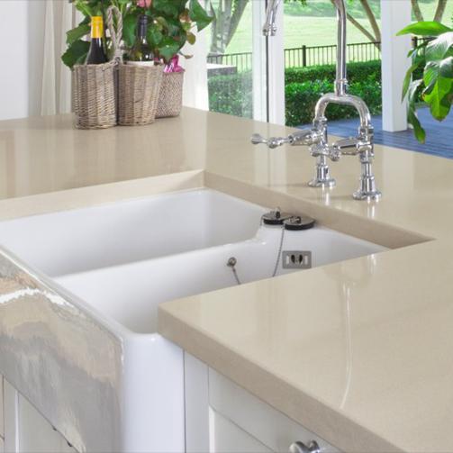 kitchen sink and bench